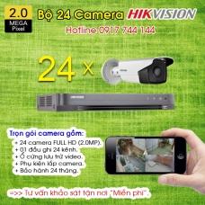 TRỌN BỘ 24 CAMERA HIKVISION 2.0MP