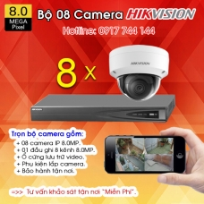 TRỌN BỘ 08 CAMERA IP HIKVISION 8.0MP
