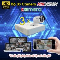 TRỌN BỘ 3 CAMERA HIKVISION 720P