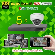 TRỌN BỘ 05 CAMERA IP HIKVISION 2.0MP