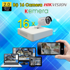 TRỌN BỘ 16 CAMERA HIKVISION 1080P