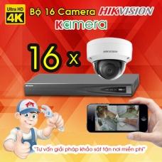 TRỌN BỘ 16 CAMERA IP HIKVISION 4K