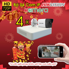 TRỌN BỘ 04 CAMERA IP HIKVISION 1.0MP