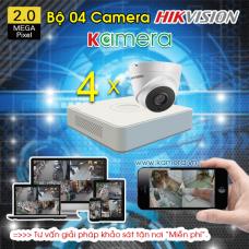 TRỌN BỘ 4 CAMERA HIKVSISION 1080P