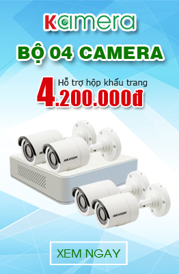 Bộ 4 Camera Hikvision