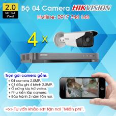 TRỌN BỘ 04 CAMERA HIKVISION 1080P