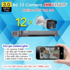 TRỌN BỘ 12 CAMERA HIKVISION 3.0MP