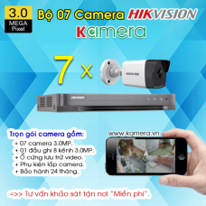 TRỌN BỘ 7 CAMERA HIKVISION 3.0MP