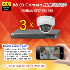 TRỌN BỘ 03 CAMERA IP HIKVISION 4.0MP