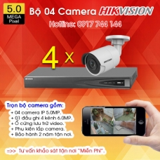 TRỌN BỘ 04 CAMERA IP HIKVISION 5.0MP