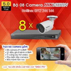 TRỌN BỘ 08 CAMERA IP HIKVISION 5.0MP