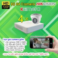 TRỌN BỘ 04 CAMERA HIKVISION 720P