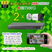 TRỌN BỘ 02 CAMERA IP HIKVISION 2.0MP