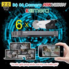 TRỌN BỘ 06 CAMERA HIKVISION 1080P