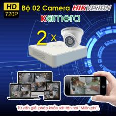 TRỌN BỘ 02 CAMERA HIKVISION 720P